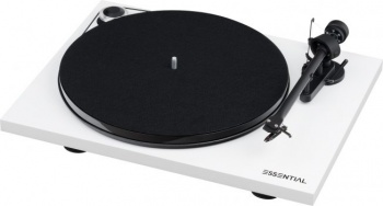 Pro-Ject Essential III DC Turntable - White - Open Box (006464)